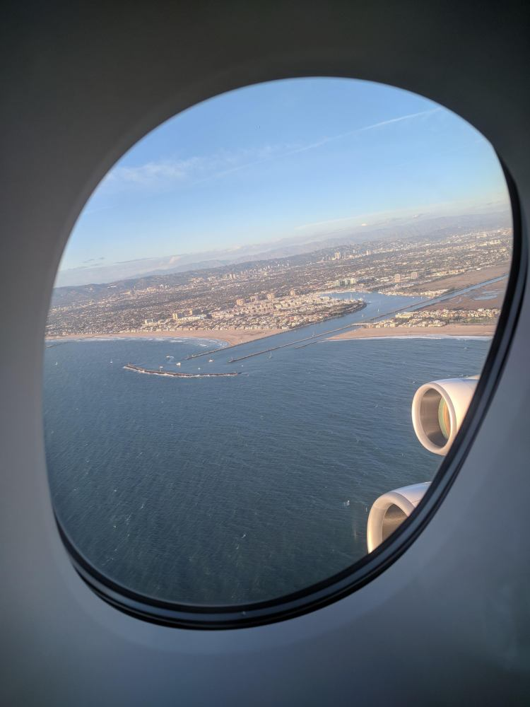 View of Santa Monica during take-off