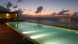 The rooftop pool at the Westin Cozumel
