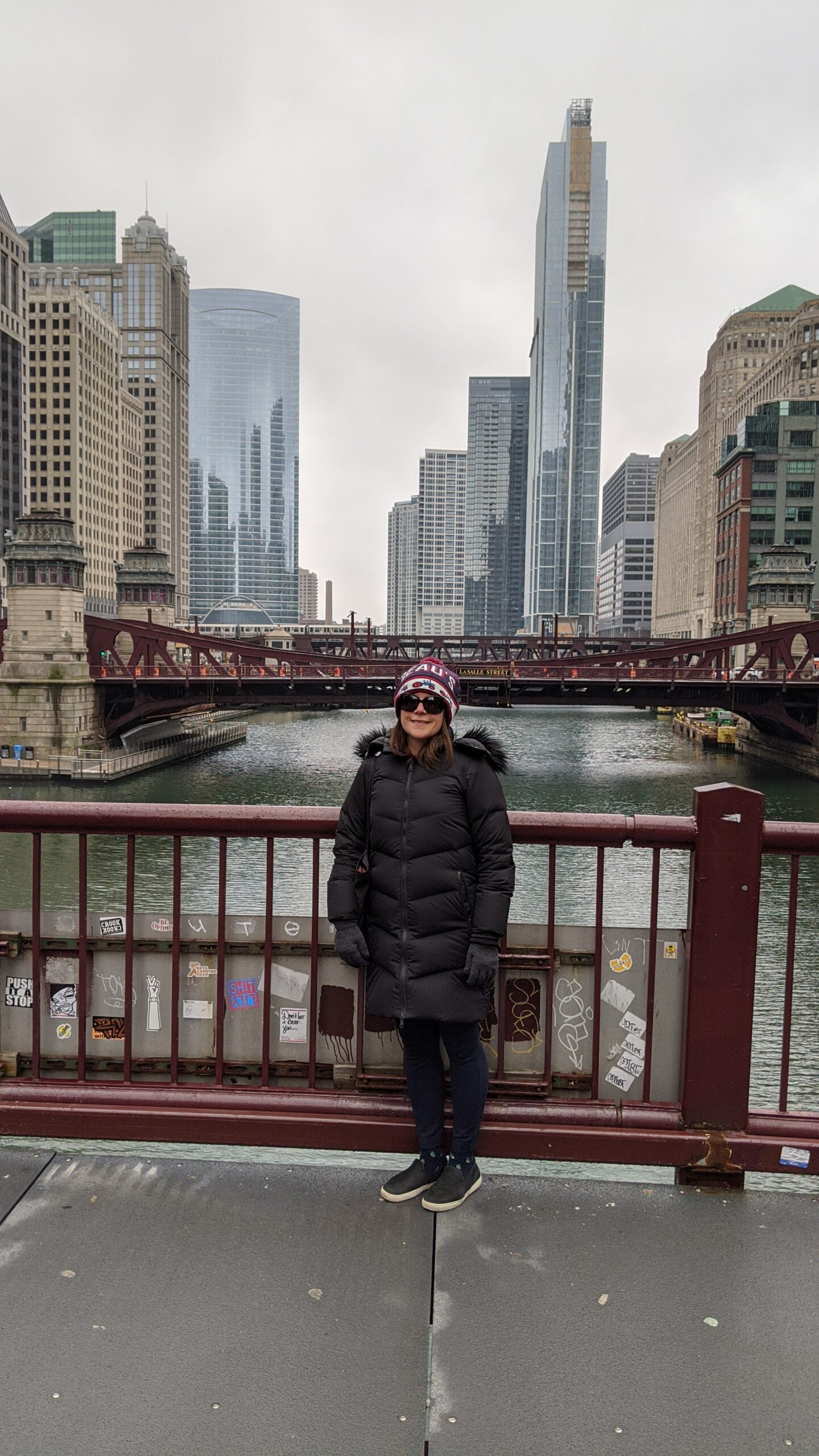 Max on a bridge in Chicago