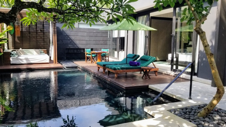 Our private pool villa at the W Bali in Seminyak