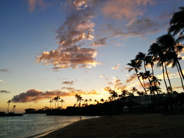 Beach sunset at The Kahala