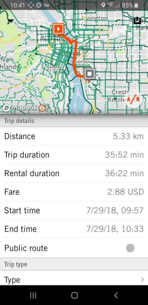 Biketown App Trip Log