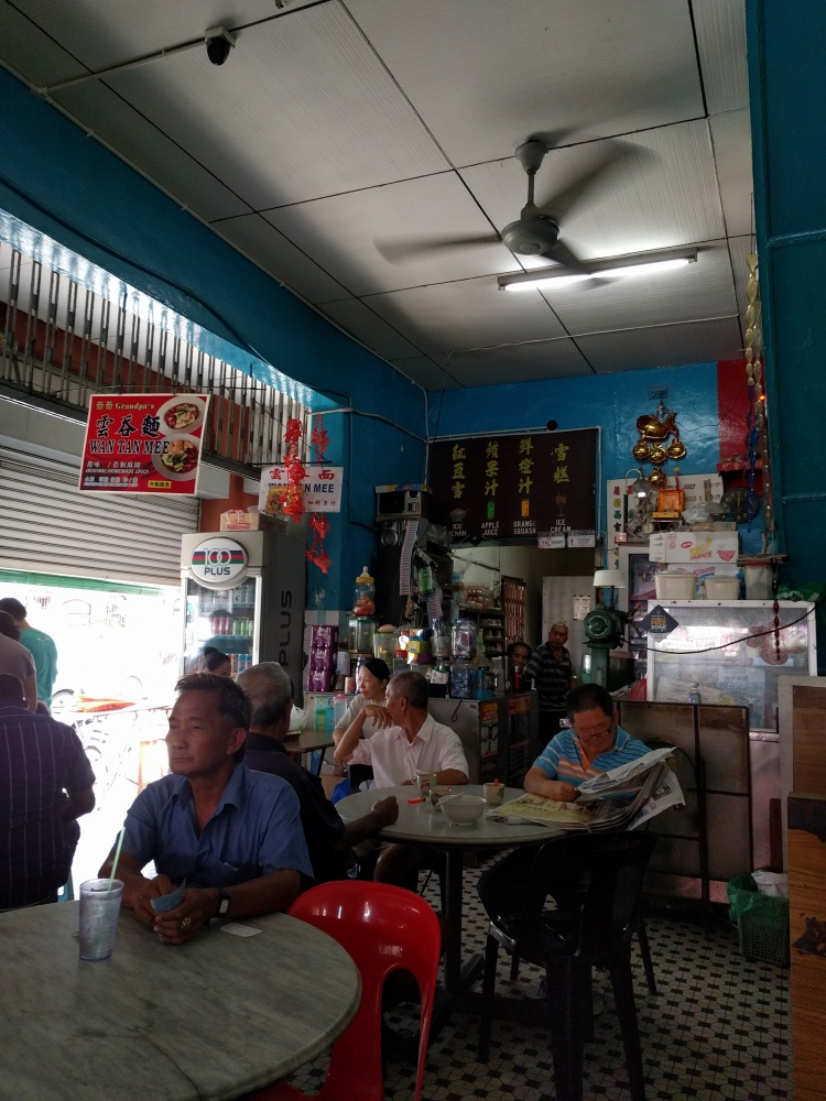 Inside Kafe Ping Hooi where Tiger Char Koay Teow is