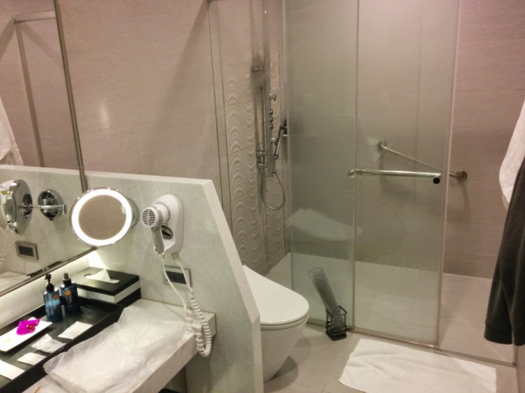 Shower room at the EVA Lounge in TPE