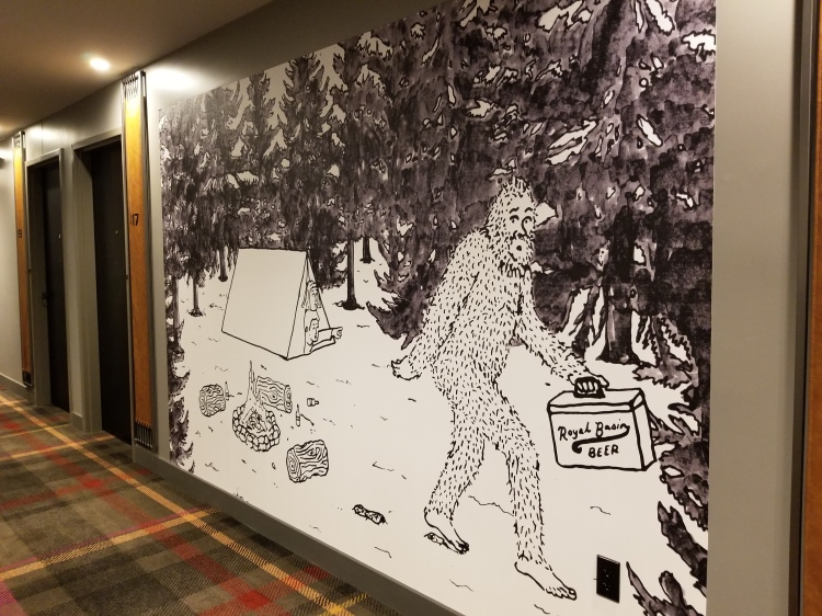 Art in the hallway on the 4th floor
