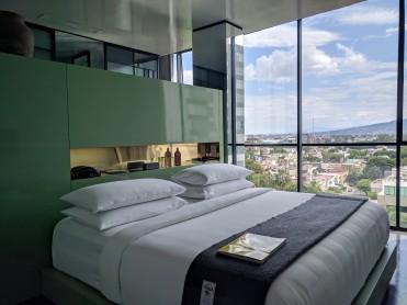 Our room at Casa Habita in Guadalajara