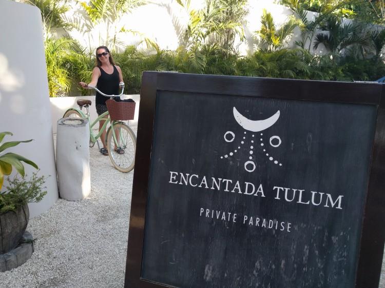 Me with a bike at Encantada