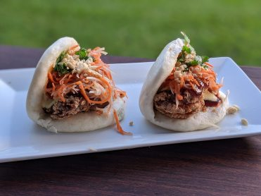 Fried chicken baos at AMA in Hanalei