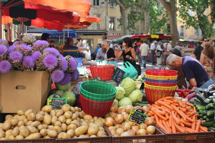 A market in Aix-en-Provence