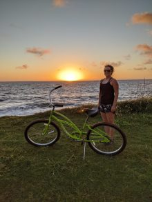 Sheraton Kauai Coconut Beach: Max enjoying a morning sunrise bikeride