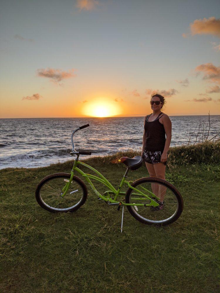 Sheraton Kauai Coconut Beach: Max enjoying a morning sunrise bikeride