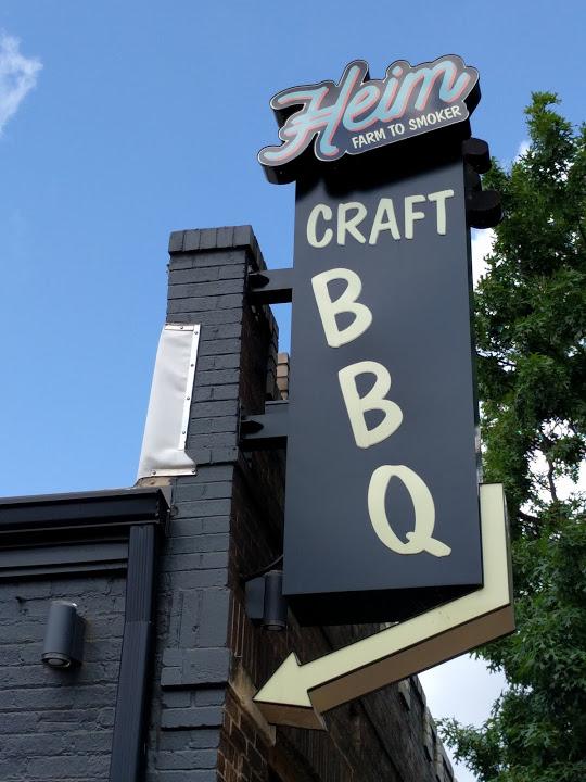 Heim BBQ sign