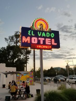The sign at the El Vado Motel in Albuquerque