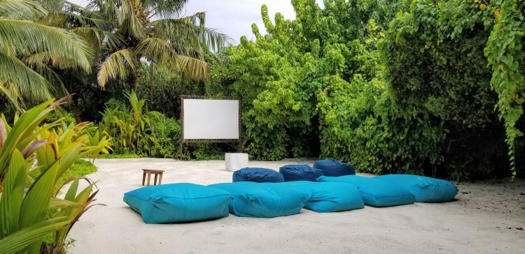 Open air cinema at Path at the Anantara Veli
