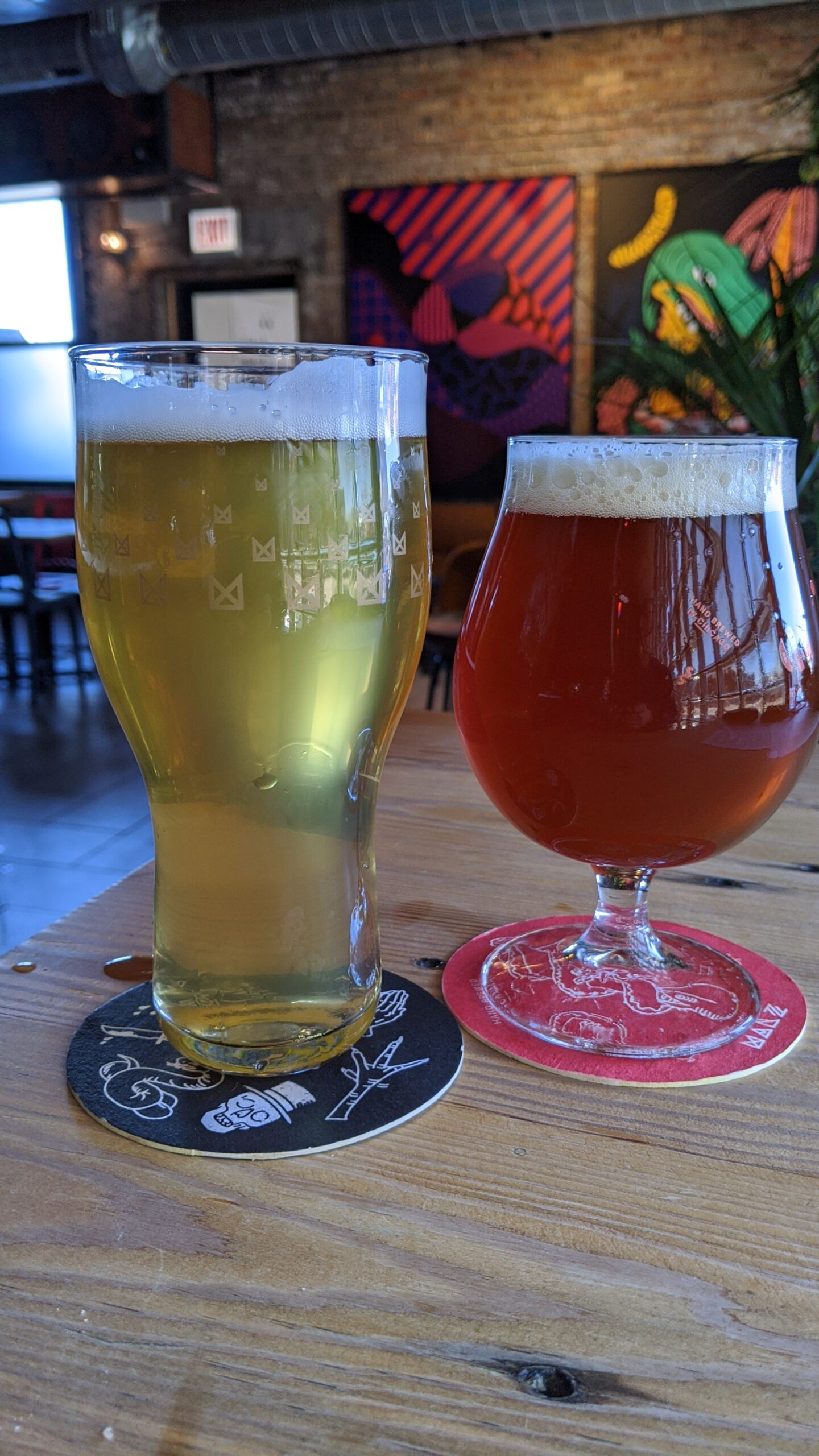 Beers at Marz Community Brewing