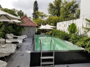 Pool Hallway at Casa Habita in Guadalajara