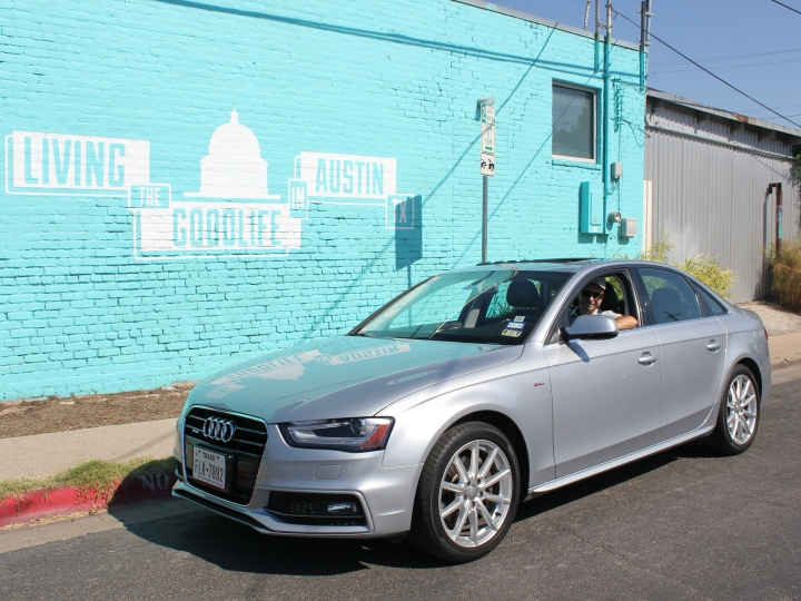 Jason in an Audi A4 from Silvercar in Austin