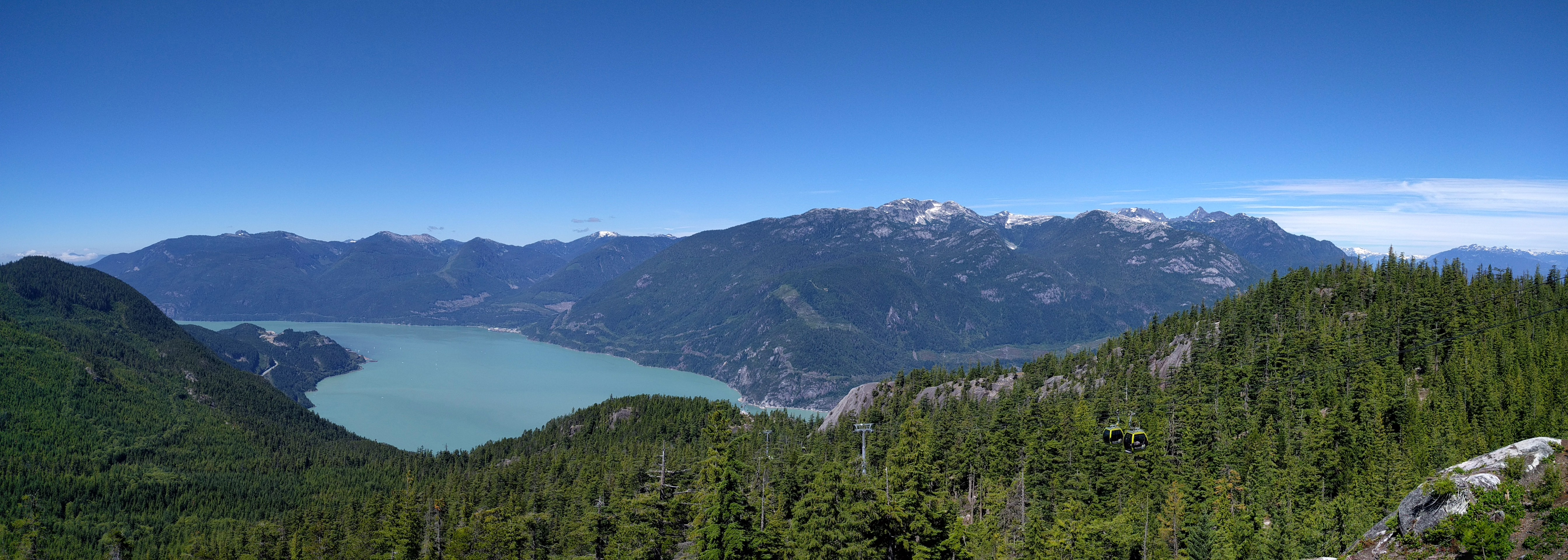 View at the top of the Sea to Sky Gondola
