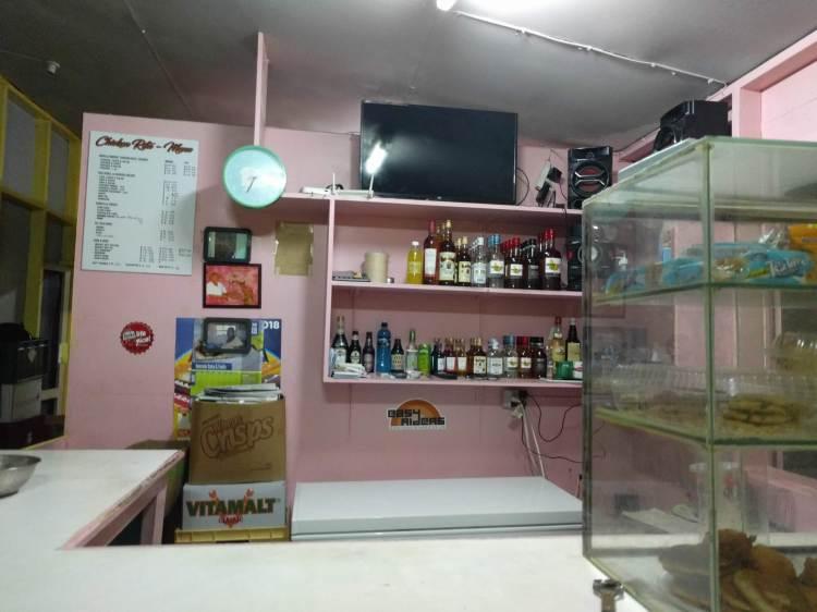 Chicken Rita's counter and menu