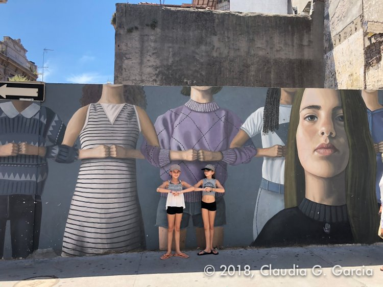 Girls and the Mural by Claudia G Garcia Photos