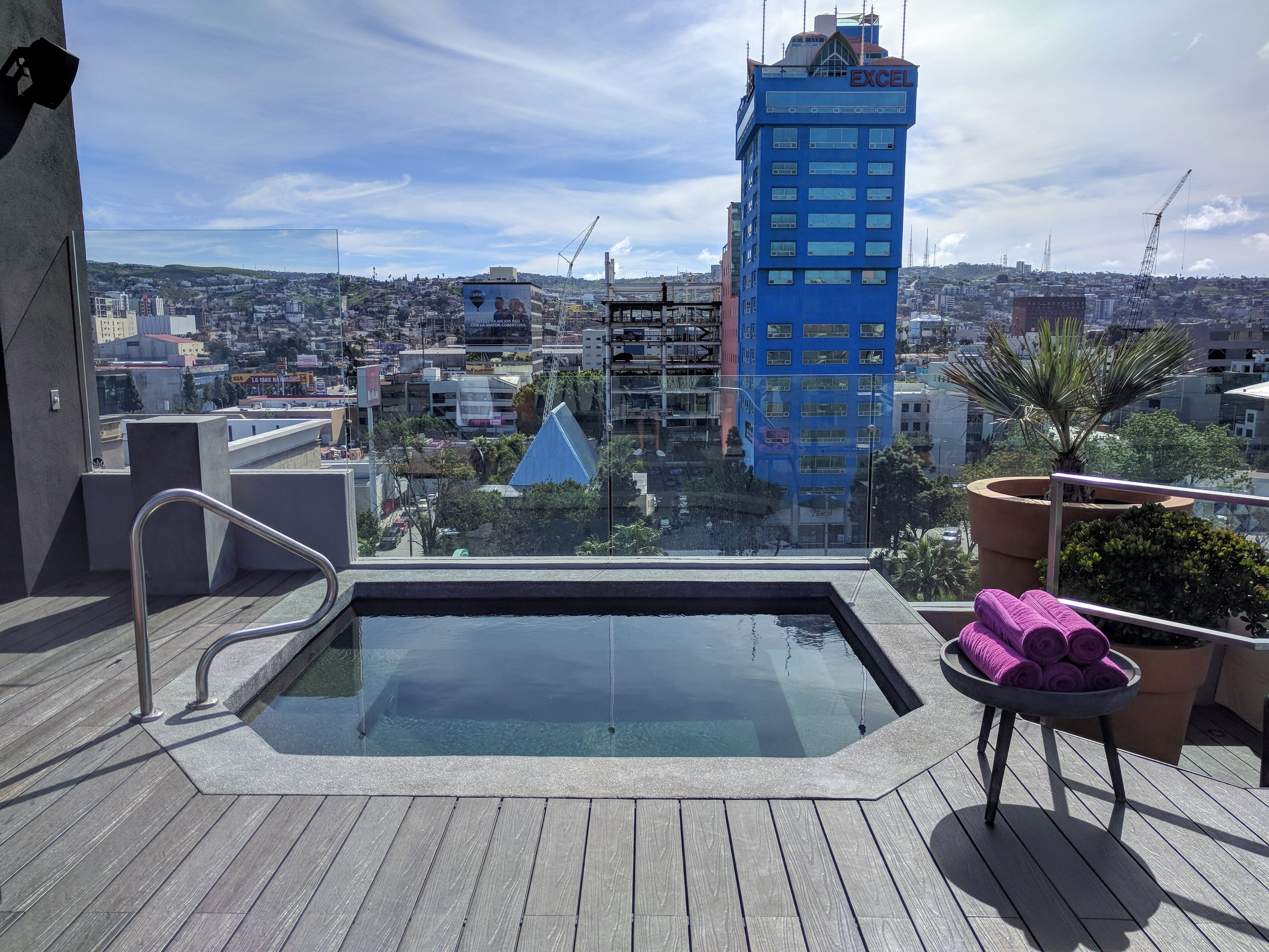 Hot tub on the rooftop