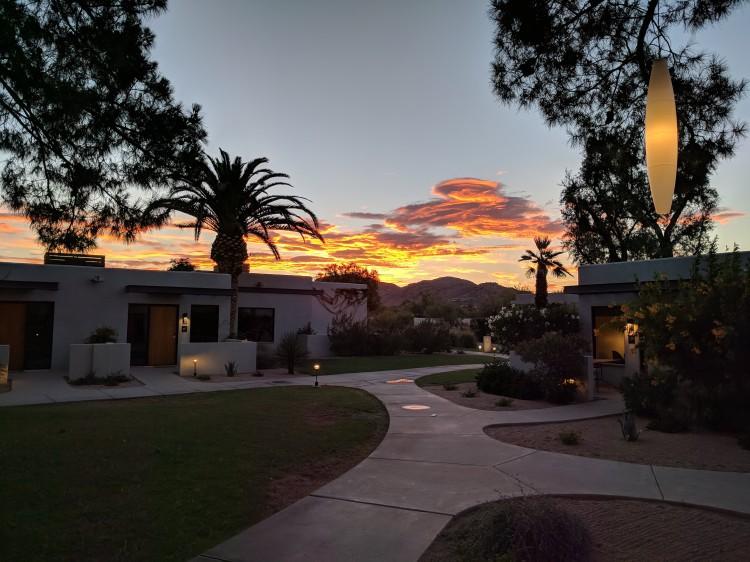 Sunset at the Andaz Scottsdale
