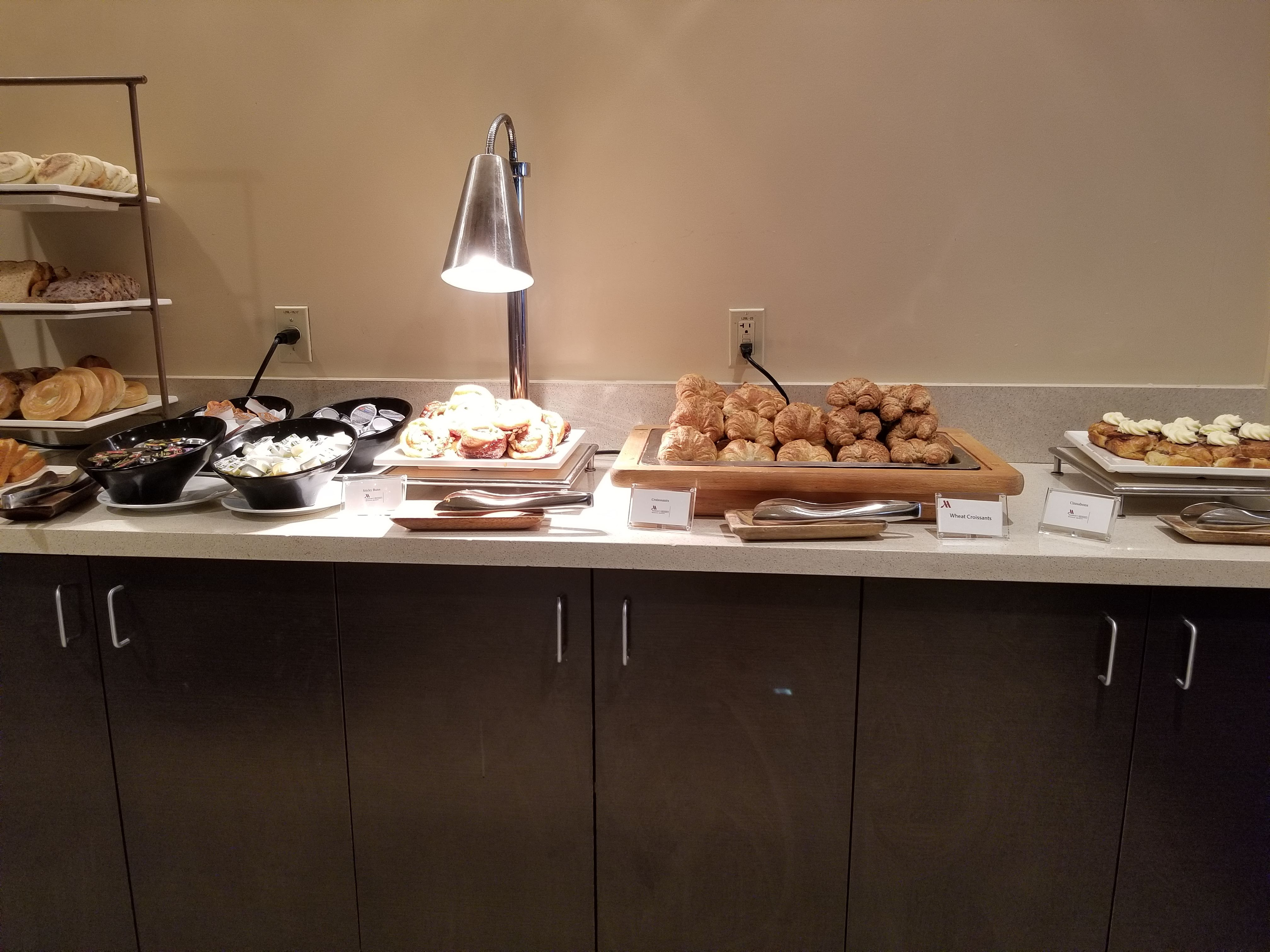 Pastries, including the awesome sticky buns part of the breakfast buffet at the Waikiki Marriott Resort & Spa