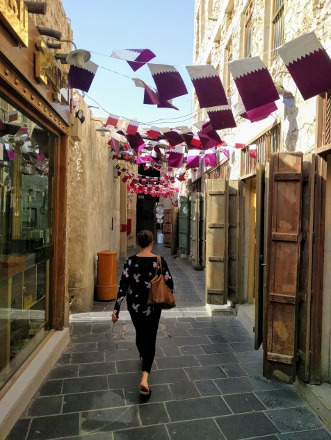 Max walking in Souq Waqif