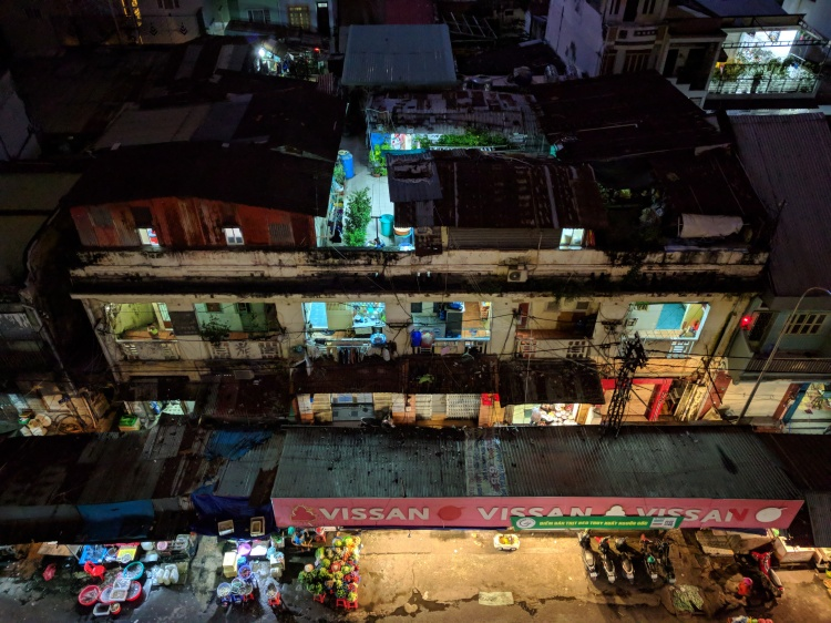View of the street and market from Anan in Ho Chi Minh City