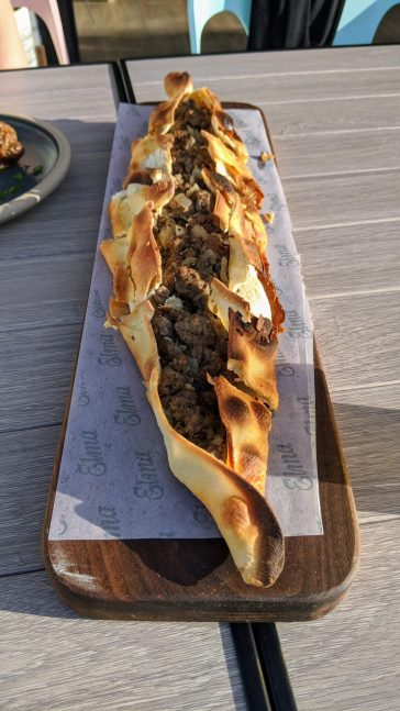 Beef Flatbread at Elma