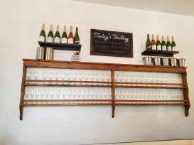 Daily tasting menu at the Gruet Tasting Room in Santa Fe