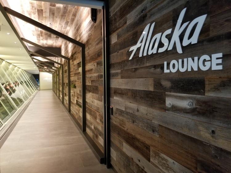 Alaska Lounge at JFK in Terminal 7