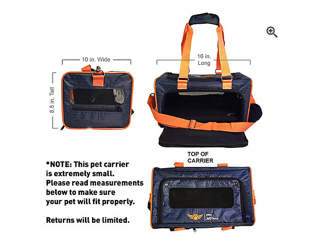 JetBlue's pet carrier that fits under the seat on their flights
