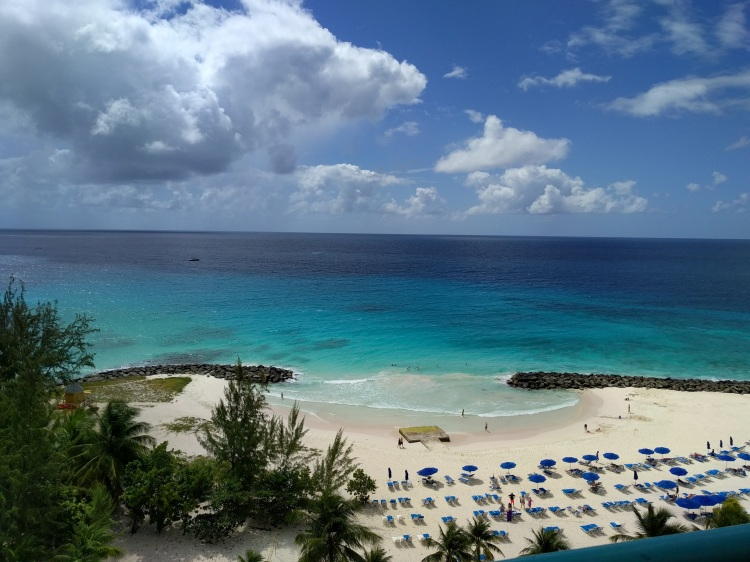 Ocean view room at the Hilton Barbados