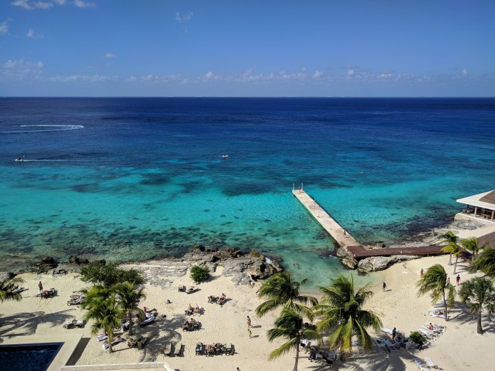 View of the beach at the Westin Cozumel