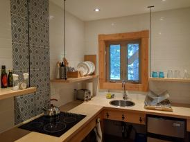 Kitchenette in the Owl Suite at Farmersdotter