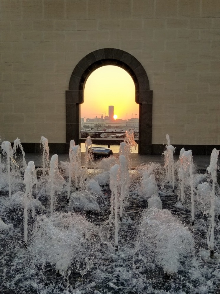 Sunset at the Museum of Islamic Art