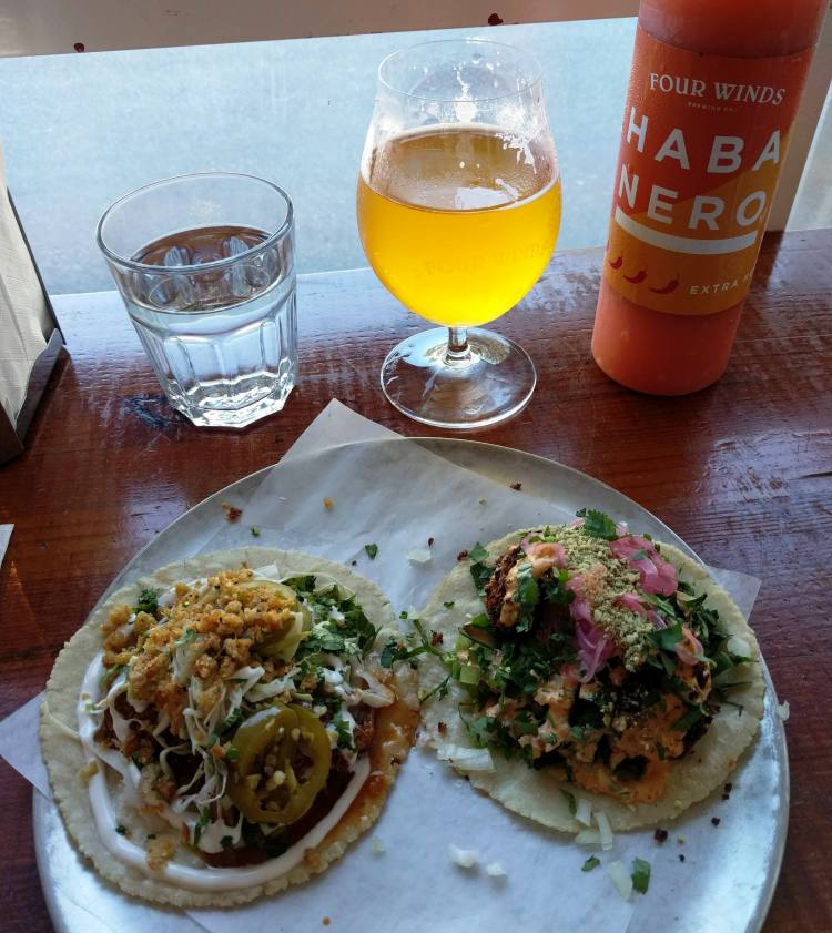 Tacos and beer at Four Winds