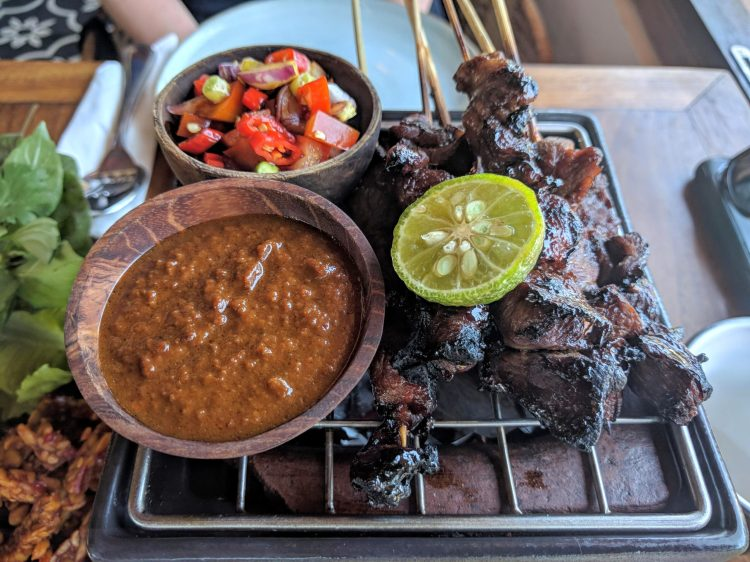 Grilled satays at Ulekan