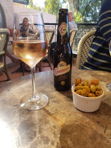 Wine, beer and olives at Kozy Bar