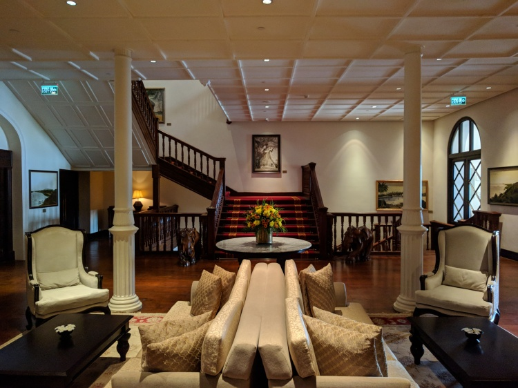 Seating area at the Galle Face Hotel