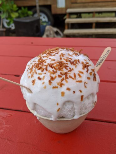 Triple Coconut Shave Ice at Wailua SHave Ice Menu