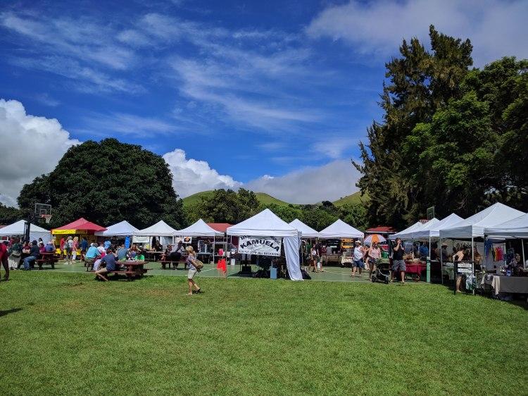 The Kamuela Market in Waimea on Saturdays