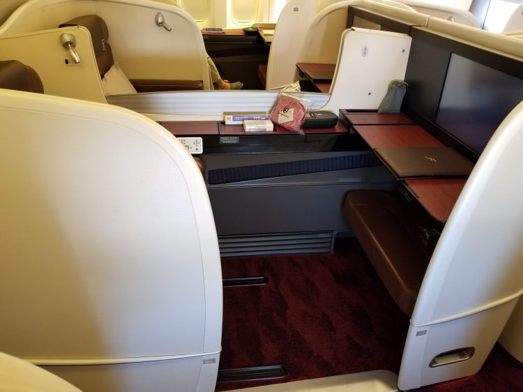 JAL First Class 777: middle seats