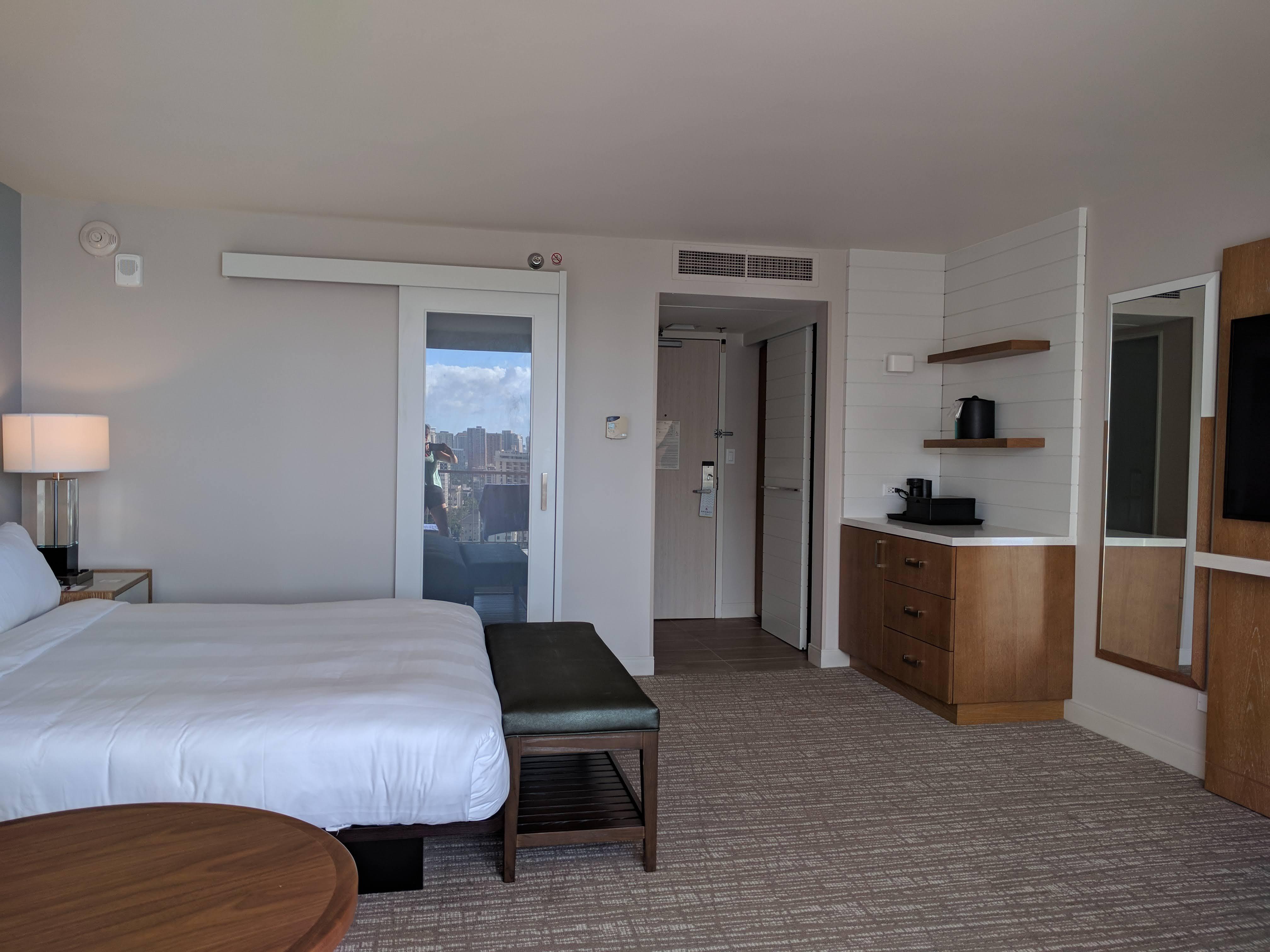 Ocean Front Room at the Waikiki Marriott: facing inwards