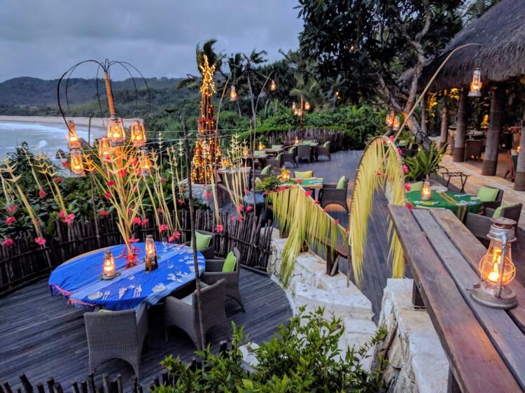 Dinner setup at Ombak