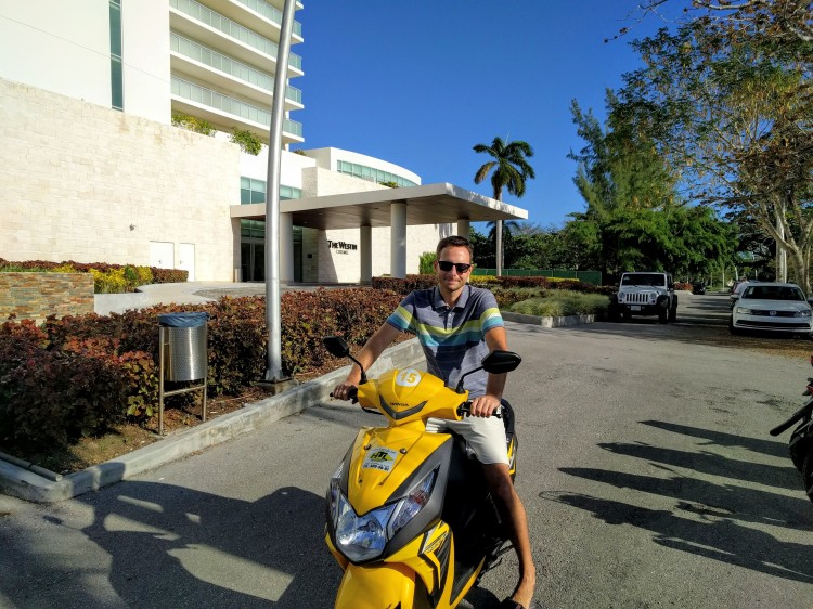 Jason on the Honda Dio we rented from HTL