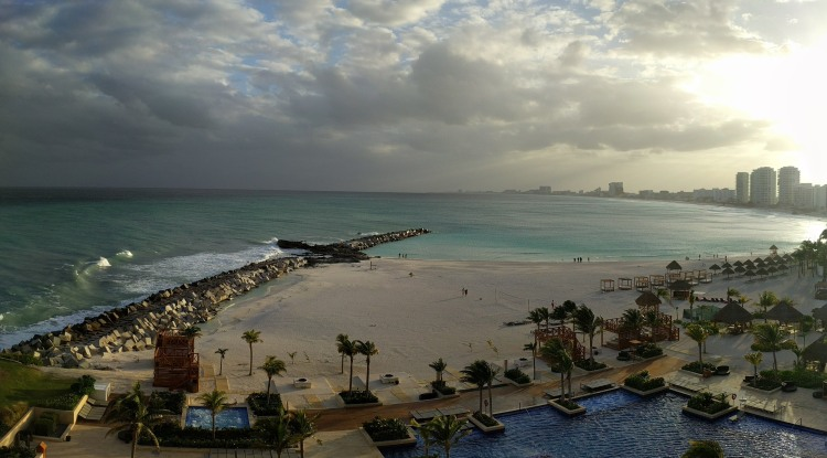 View from our room on the 6th floor of the Club Tower at the Hyatt Ziva Cancun