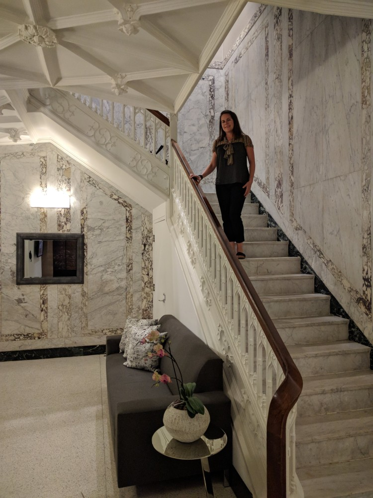 Marble staircase at The Godfrey