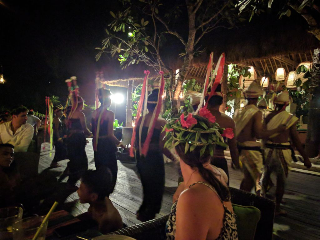Traditional dance performance at Ombak